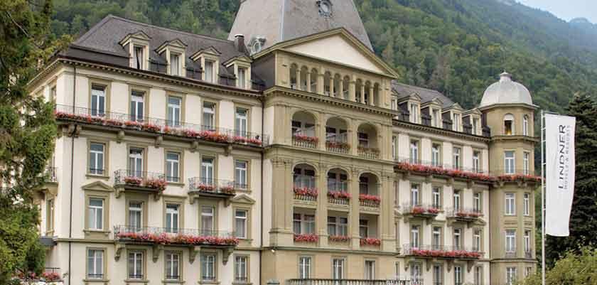 Lindner Grand Hotel Beau Rivage, Interlaken, Bernese Oberland, Switzerland -  - Exterior in Summer.jpg